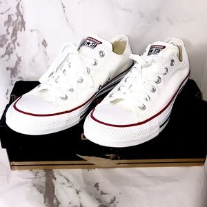 NEW Converse all star low top white shoes